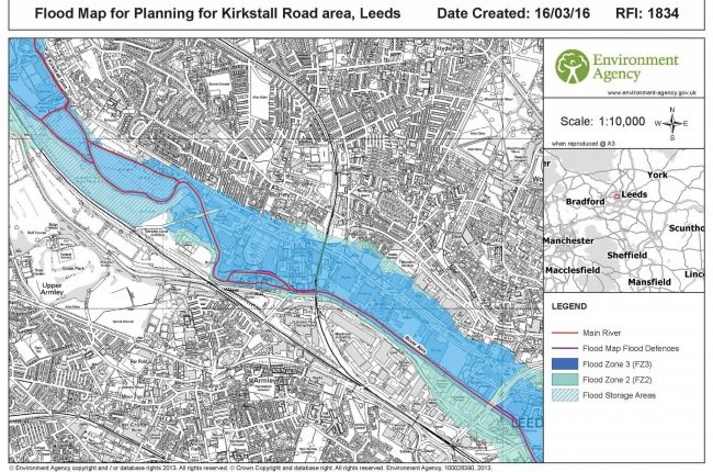 Flood Map for Planning - 1834